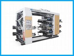 NXZ6 6 color stack type flexo printing machine for plastic film bag