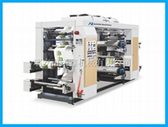 NXZ4 4 color stack type flexo printing machine for plastic film bag