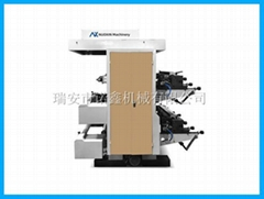NXZ2 1/2 color stack type flexo printing machine for plastic film bag