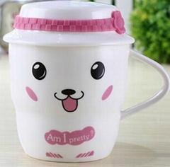 创意时尚可爱卡通动物帽子水杯