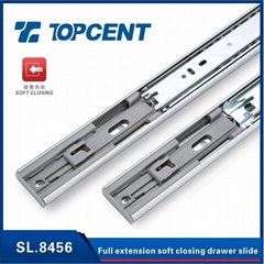Top Quality hydraulic soft close full extension ball bearing drawer slide