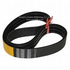 harvester use banded rubber driving v belt