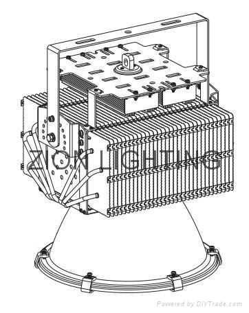 400W Outdoor Led Floodlight AC 85~264V DC 18V /36V 33500LM 50000H IP65 2