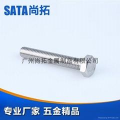 SUS304不锈钢六角头螺栓