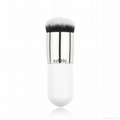 fashion design white handle gold ferrule kabuki foundation makeup brush