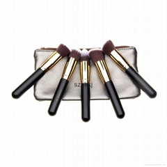 travel makeup brushes cheap cosmetic 5pcs/set make up factory cosmetics
