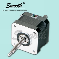 High performance 2 phase Nema 17 non captive linear stepper motor