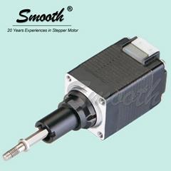 Smooth Nema 8 captive stepper motor linear actuator