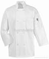 Hot-sale White long sleeve chef coat/chefs jacket/chefs wear/chefs uniform