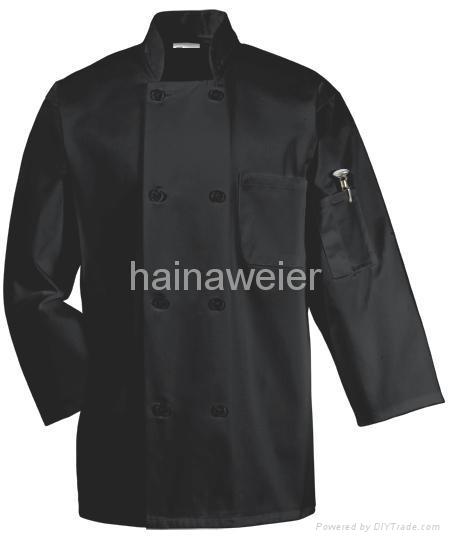 Hot-sale White long sleeve chef coat/chefs jacket/chefs wear/chefs uniform 2