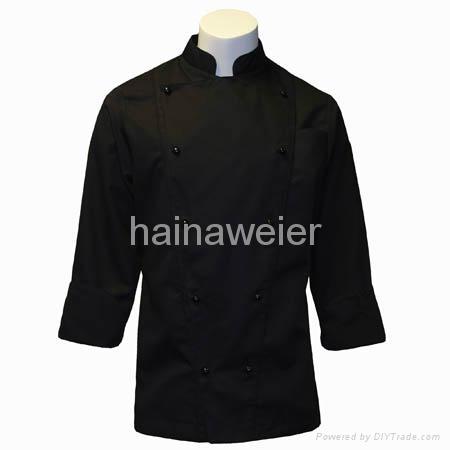 黑色長袖廚師服 1