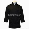 黑色長袖廚師服