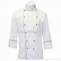 Custom Traditional White Twil L/S chef coat/chefs jacket/chefs wear/chef uniform