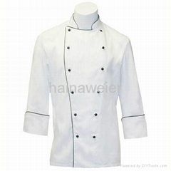 Custom Traditional White Twil L/S chef coat/chefs jacket/chefs wear/chef uniform