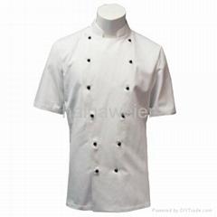白色短袖廚師服