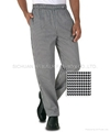 Hot-sale Traditional Drawstring check chefs pants ,chefs wear,chefs uniform