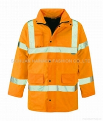 High vis storm coat HNE W1306 ,worker wear,worker uniform,worker clothes