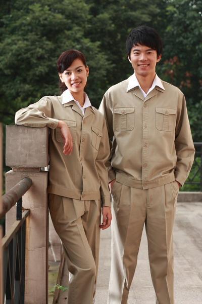 定制海纳维尔纯棉工作服套装 1