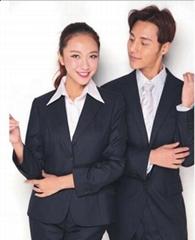成都工厂定制高档男女式职业装、西服