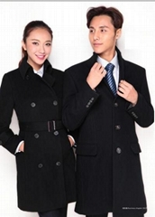 成都工厂定制男女式高档呢子大衣、羊绒大衣