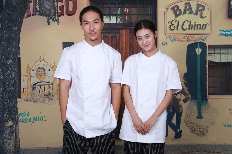Custom Cook Work Shirts Restaurant Uniform Chef Coat White Chef Jacket