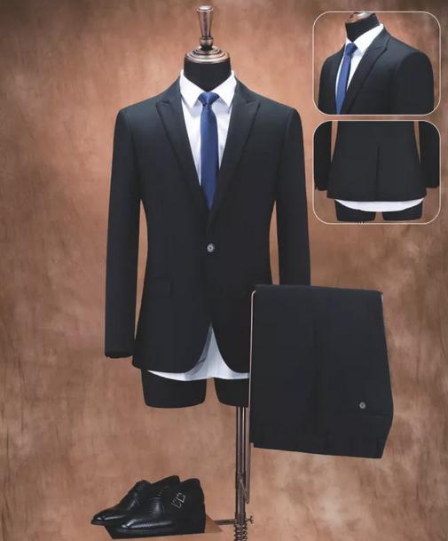 定制男式高级海纳维尔西服 职业装