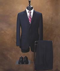 Custom made men's Virgin Wool Suit, Slim Fit