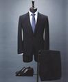 Bespoke Slim-fit men's suit in melange virgin wool