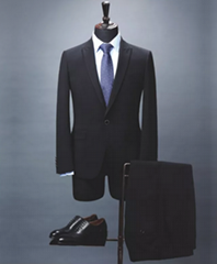 Bespoke Slim-fit men's suit in melange virgin wool