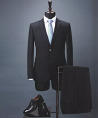 Bespoke men's Virgin Wool Suit, Slim Fit