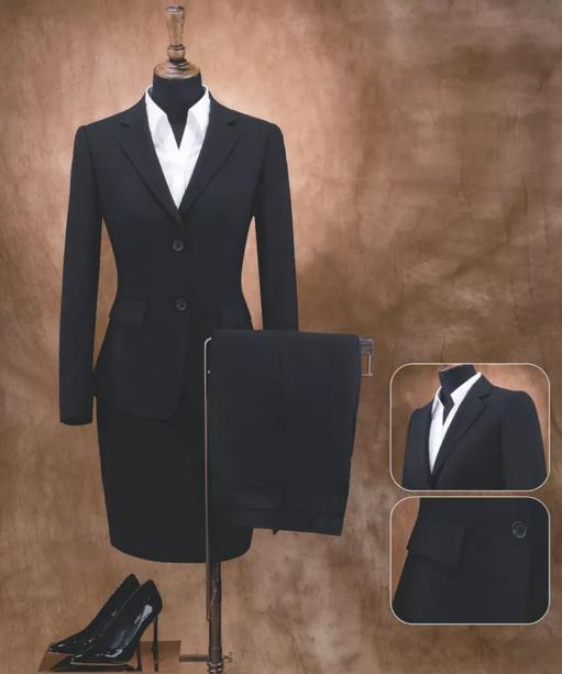 sexy woman office suit coat pant black blue suits ladies elegant office uniform