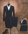 sexy woman office suit coat pant black