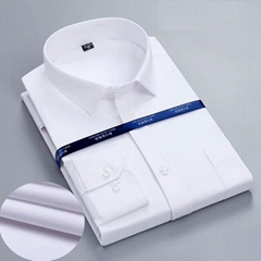 Custom Made High Quality Men White 100% Cotton Poplin Long Sleeve Office shirts