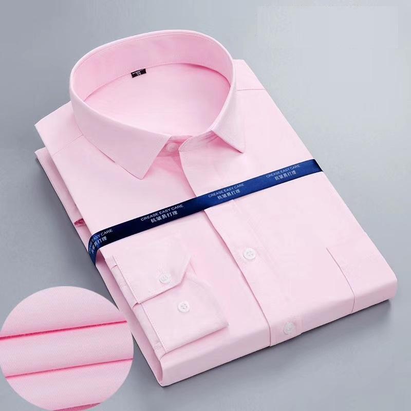 Custom Made High Quality Men White Cotton Poplin Long Sleeve Office shirts 1