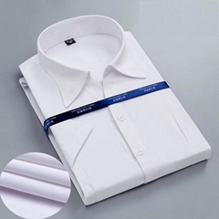 OEM Custom 100% Cotton Short Sleeve Hight Quality Men's Business Dress Shirt