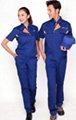 四川海納爾服飾定製夏季藍色短袖