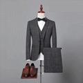 Hot Grey Tweed Herringbone Jacket Blazer Man Suit Tailored Slim Fit Suits