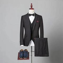 定制高品质毛料男式海纳维尔精品西服套装 职业装