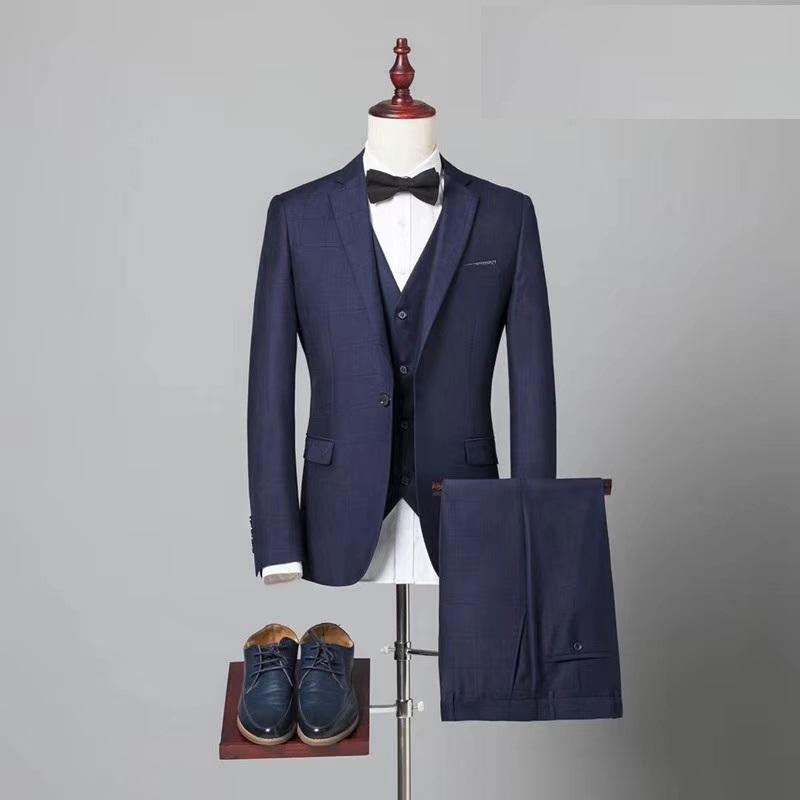 定制高品质毛料男式海纳维尔精品西服套装 职业装 1