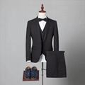 Latest Design Tweed Slim Fit 3 Piece Checked Coat Pant Men Suit Tweed Suit