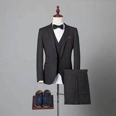 定制高品质男式海纳维尔西服套装 职业装