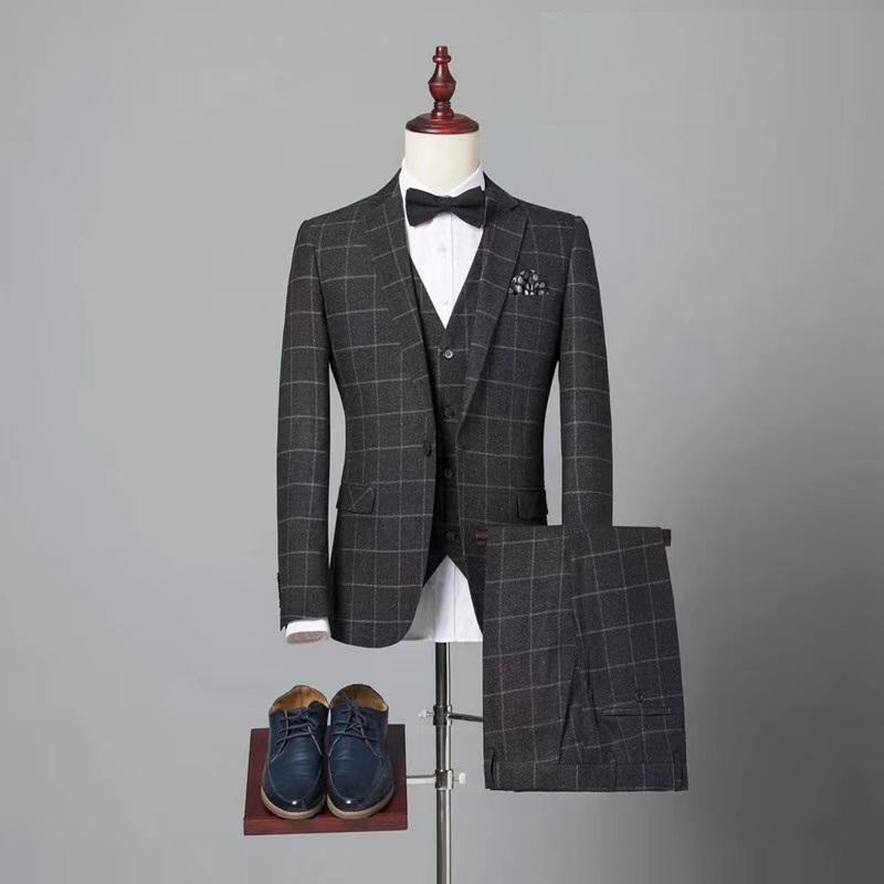 定制高品质男式海纳维尔毛料西服套装 职业装