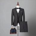 定製高品質男式海納維爾毛料西服
