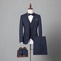 定制高品质男式海纳维尔毛料西服