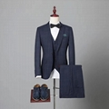 Latest Design Tweed Slim Fit 3 Piece Checked Coat Pant Men Suit Tweed Suit
