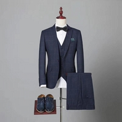 Classic three piece suits pattern design men wedding suits