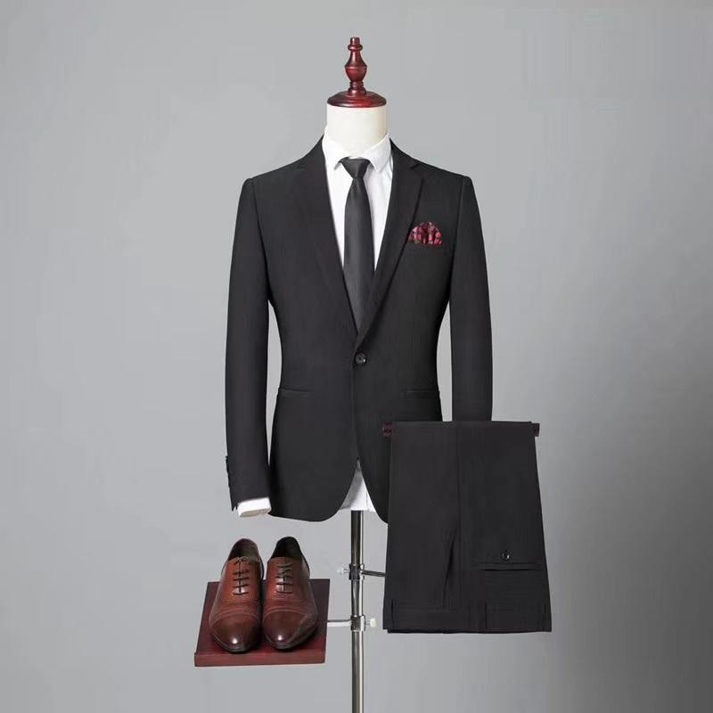定制高品质毛料男式海纳维尔西服套装 职业装 1