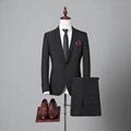 定制高品质毛料男式海纳维尔西服