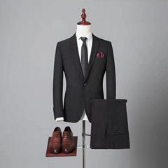 定制高品质毛料男式海纳维尔西服套装 职业装