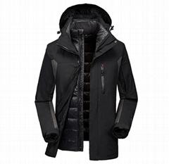 德國新寶適 戶外羽絨內膽可拆卸三合一防風防水加厚衝鋒衣